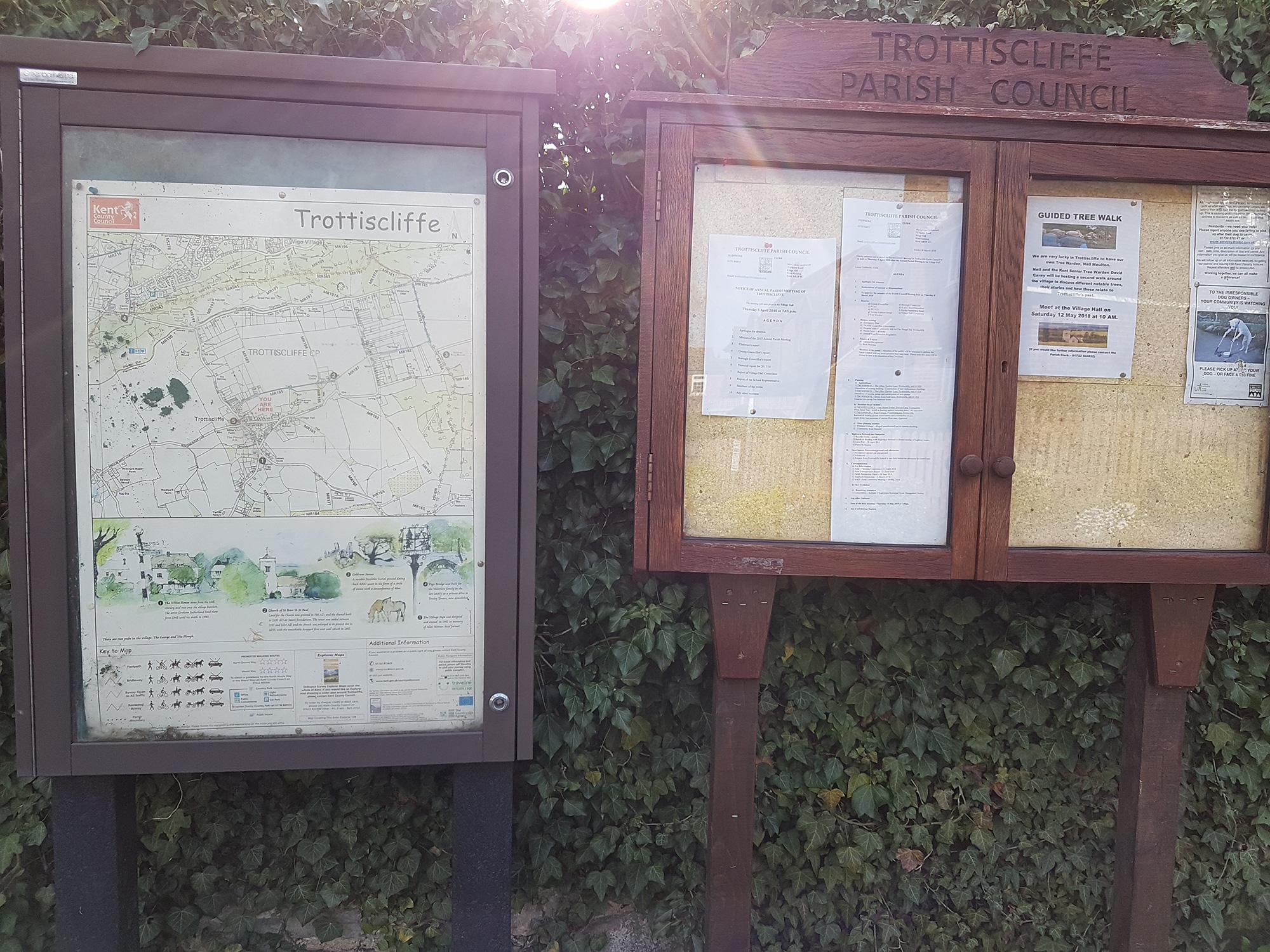 Trottiscliffe Village boards