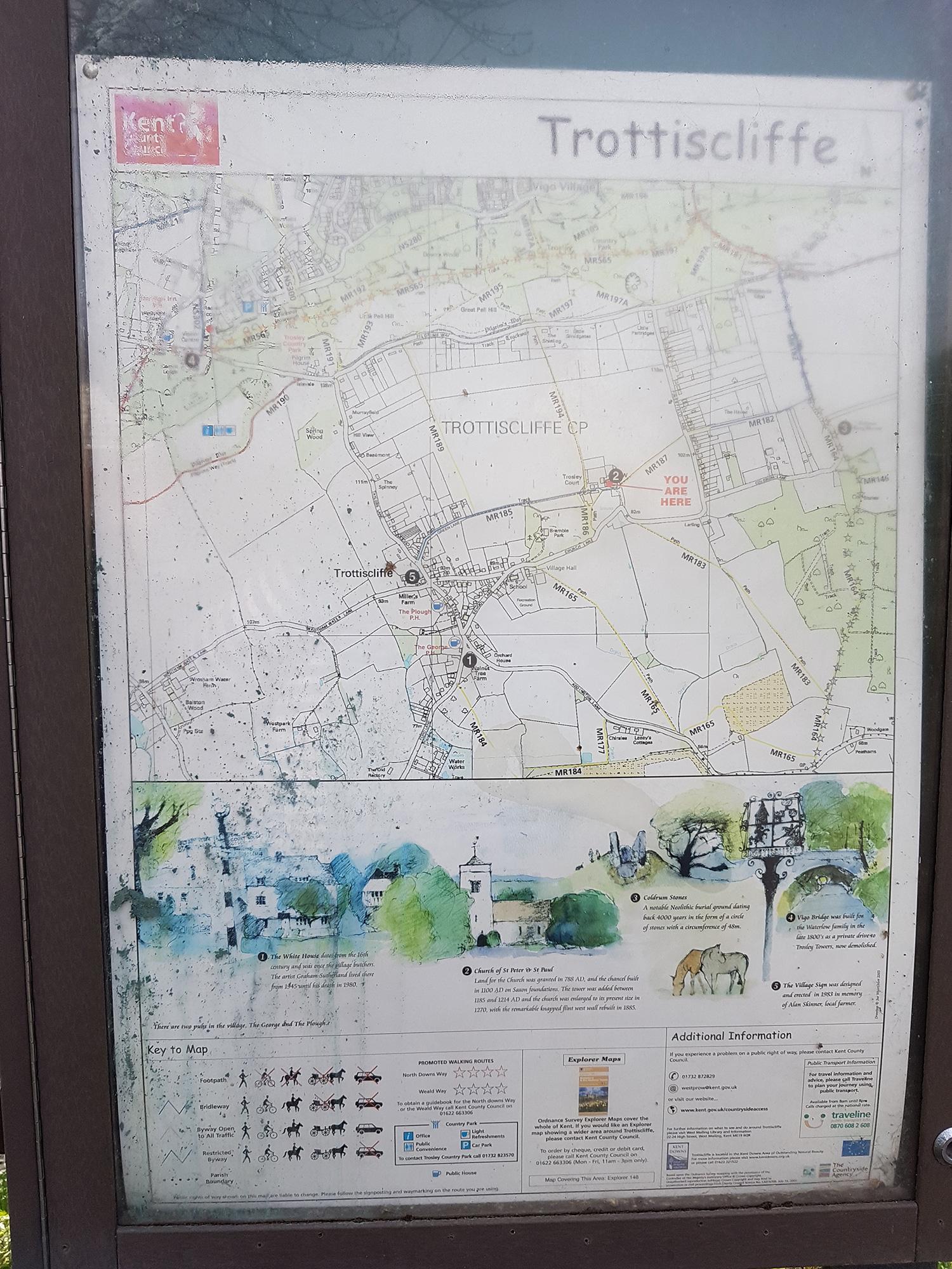 Trottiscliffe map board