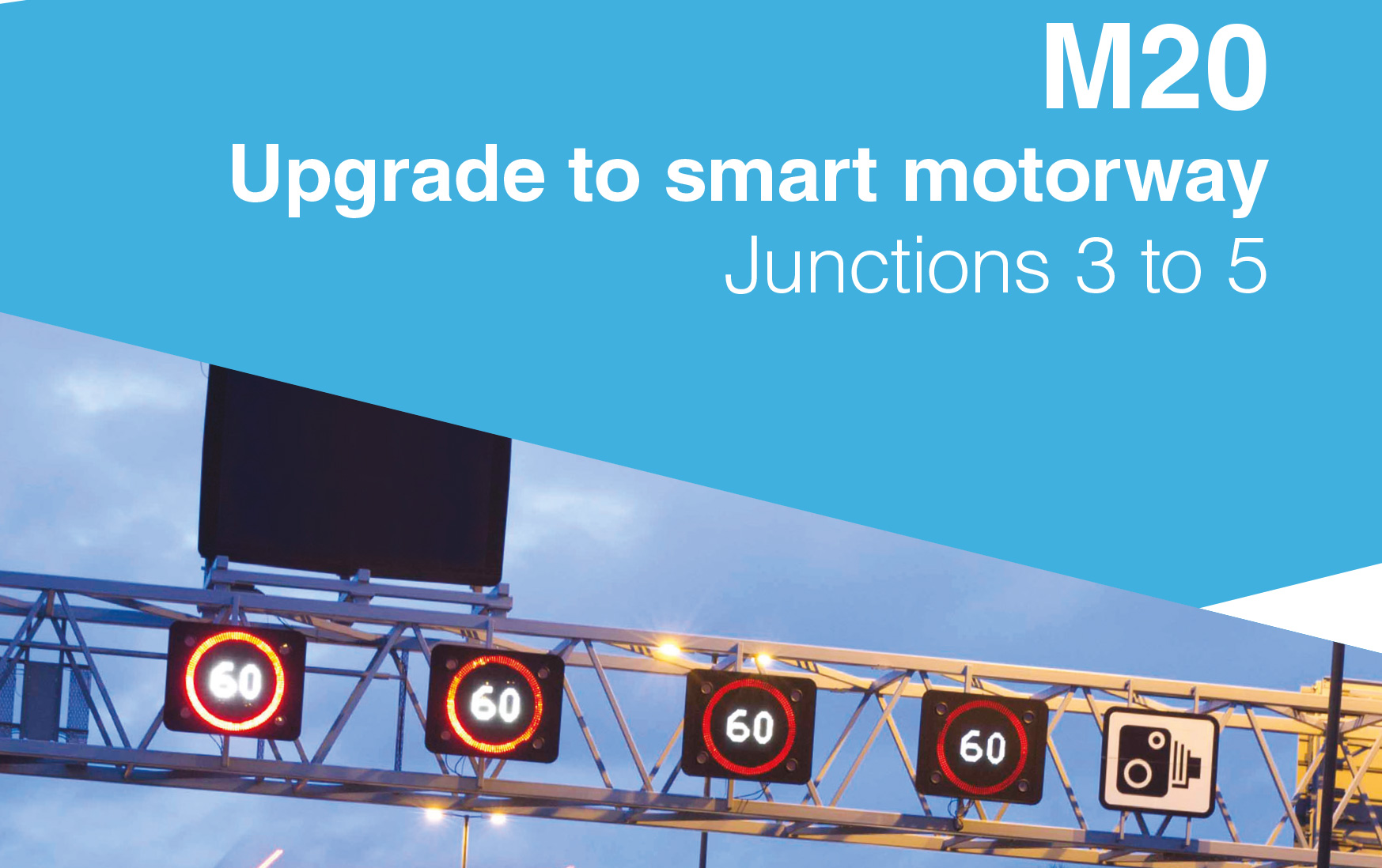 Upgrade to smart motorway - M20 front cover