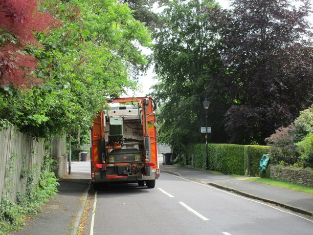 Rear of a refuse lorry